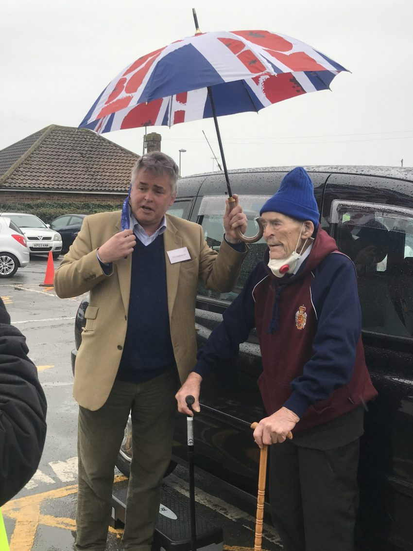 Ted Hunt with MP Tim Loughton 20 January 2021