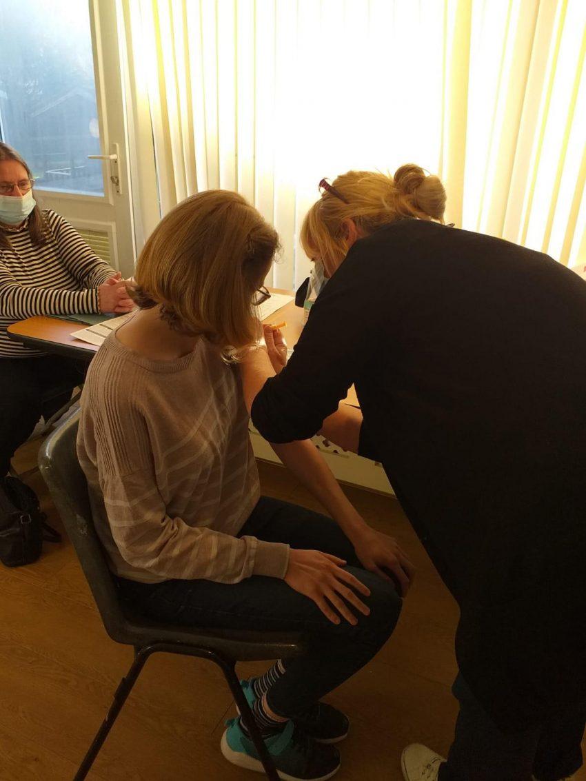 Cabrini resident receives the Coronavirus vaccine