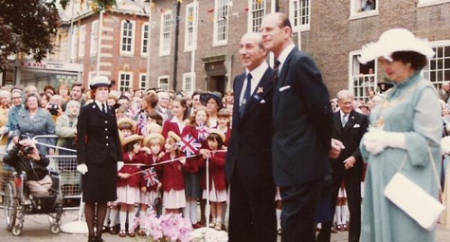 1979 - Prince Philip takes salute (web)