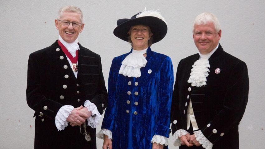High Sheriffs (1) John Weir, Remony Millwater and Paul Barrett